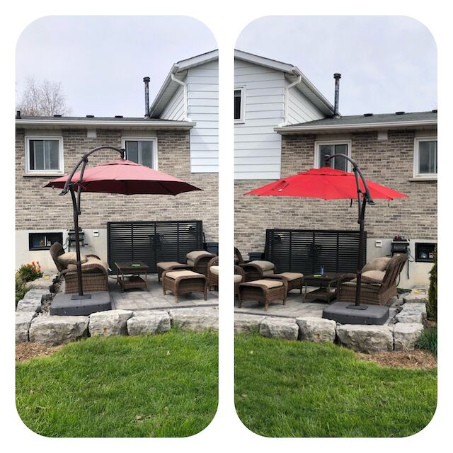 spray paint outdoor fabrics kick some color into your old umbrella