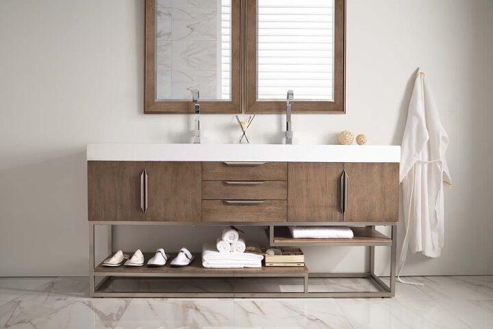 q replacing bathroom cabinets