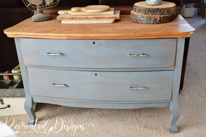 turn that old dresser into the perfect tv stand