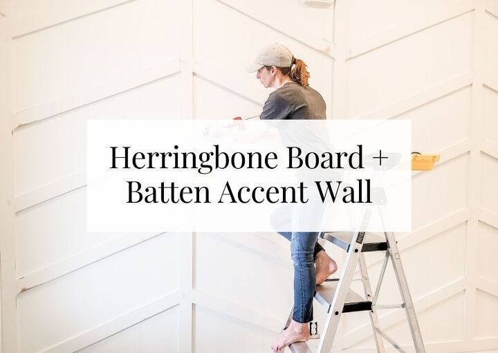 stunning diy herringbone board and batten accent wall 804 sycamore
