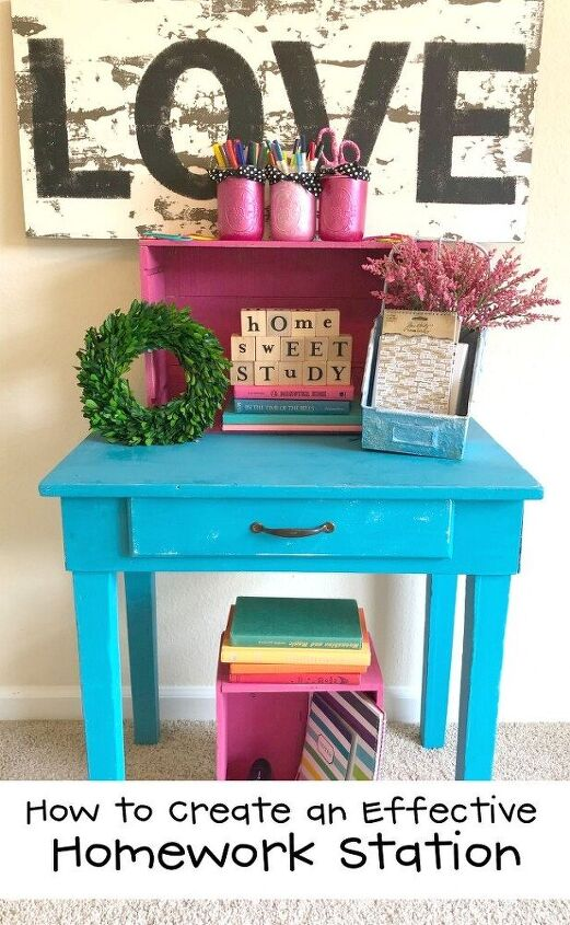 how to create an effective homework station with wine crates