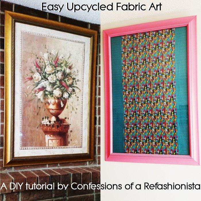 easy upcycled fabric art