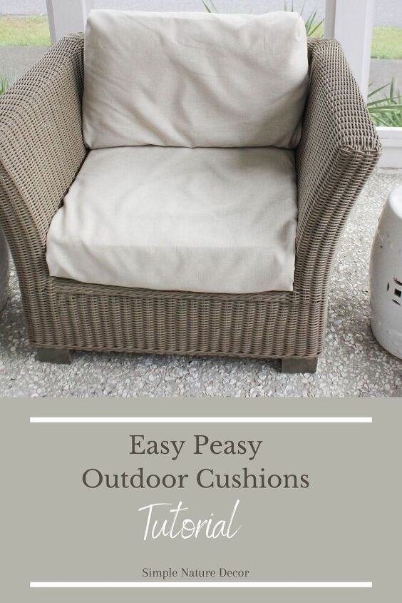 how to cover outdoor cushions in easy peasy steps
