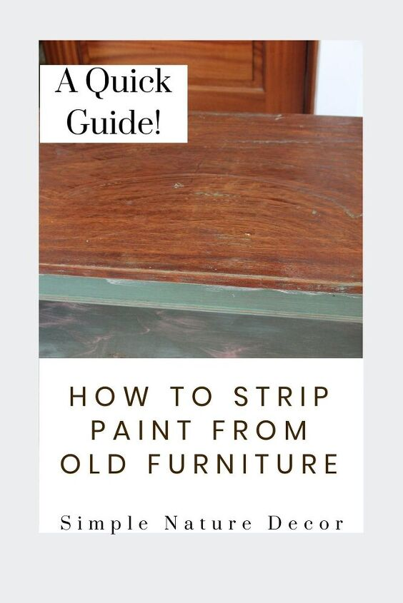 how to strip paint from old wood furniture