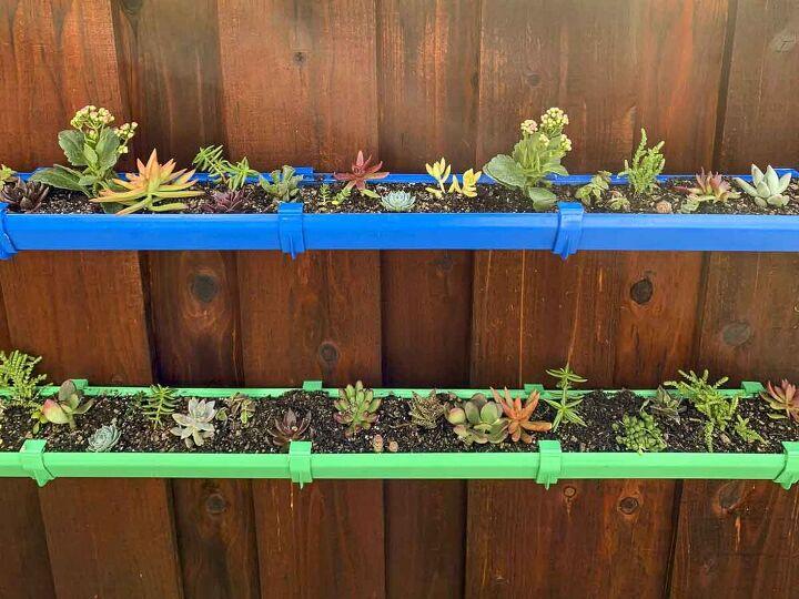 how to make a bold and beautiful rain gutter garden