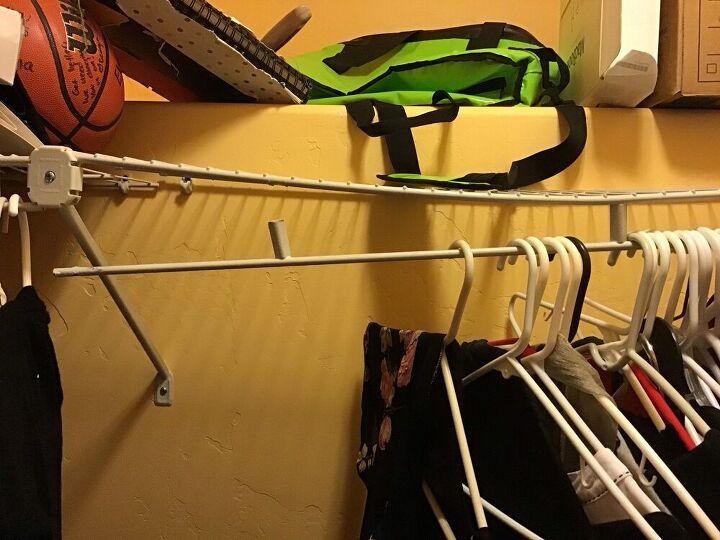 q how do i fix a broken metal hanging rod in my closet