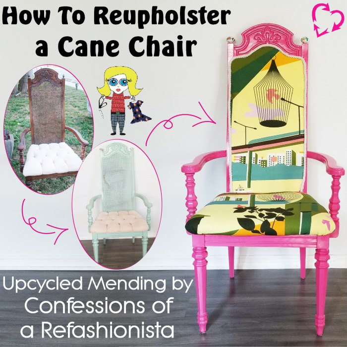 how to reupholster a cane chair