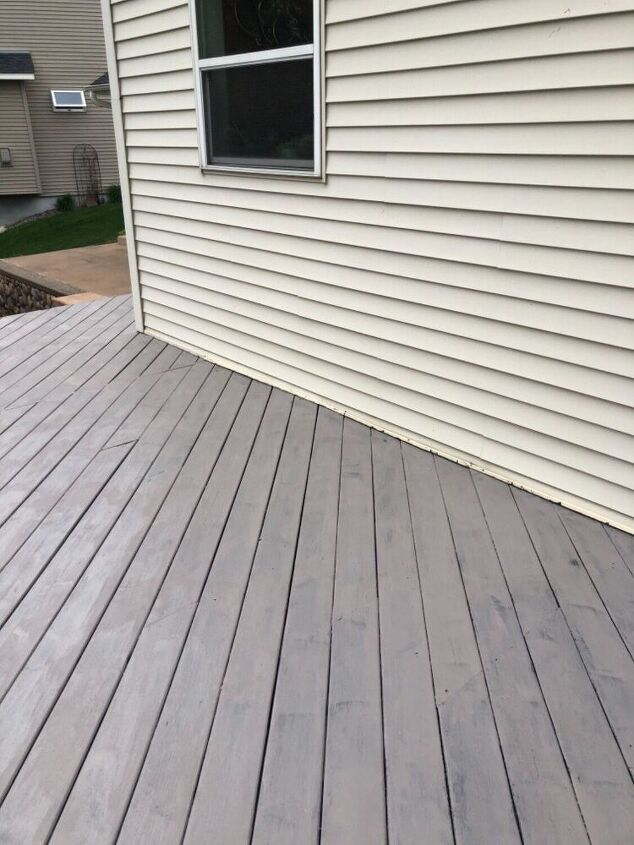 q how do i fix this deck painting disaster