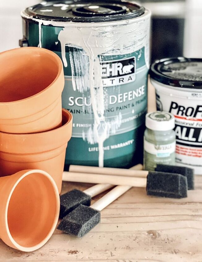 spring thrift store decor how to age terracotta pots
