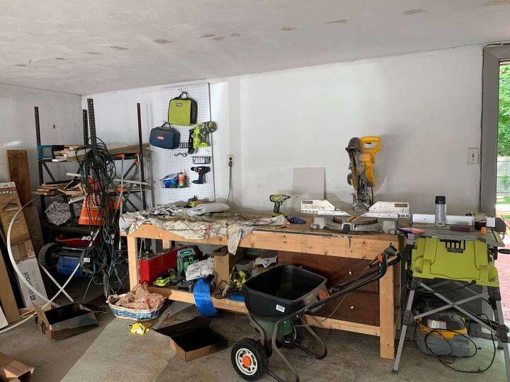 how to create an organized garage workshop