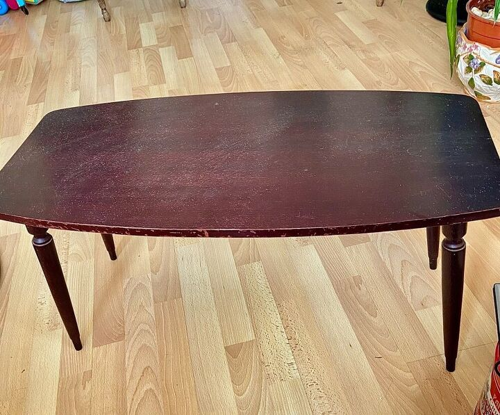 transforming an old coffee table into rainbow of hope, Old table