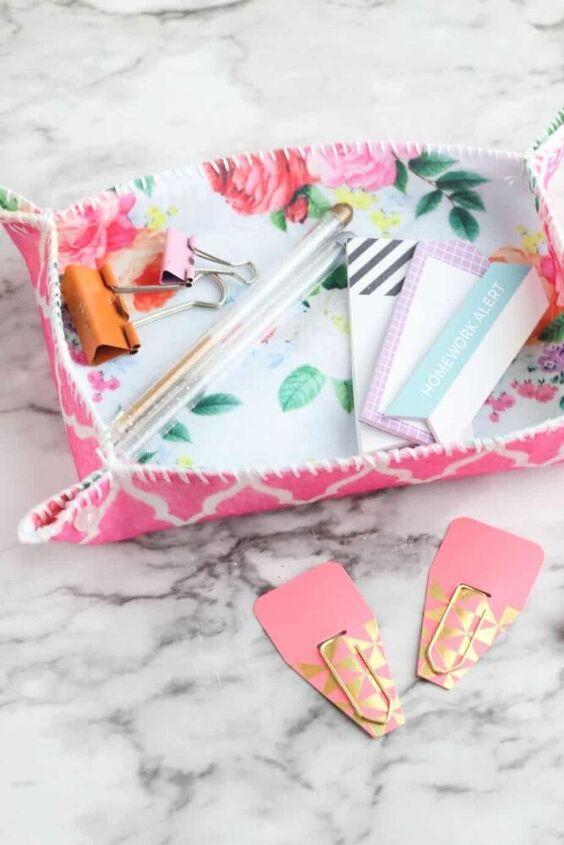 diy fabric tray