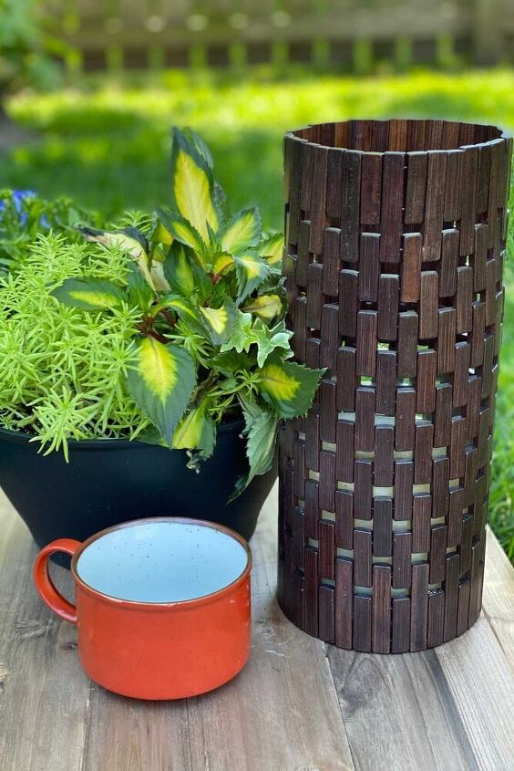 the easiest diy outdoor candle holder, Easy DIY Outdoor Candle Holder