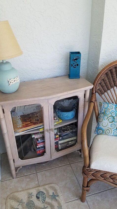 q how do i give this bookcase a beach coastal look