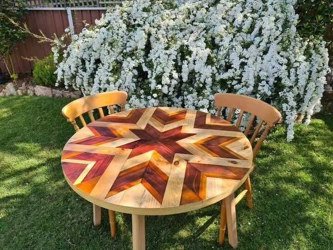 round barn quilt table