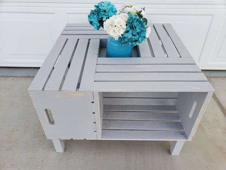 simple diy crate coffee table