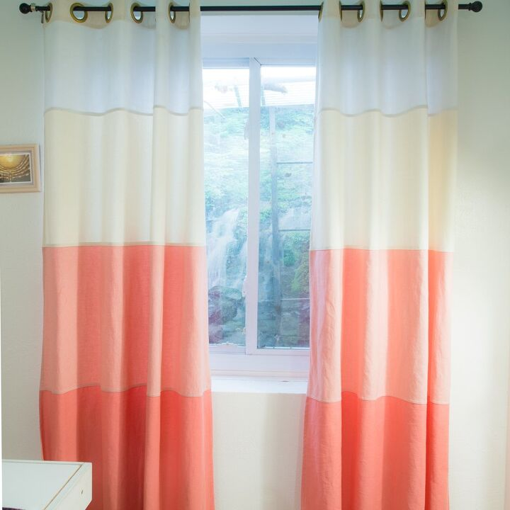 s 15 money saving curtain hacks that are too good to ignore, Stitch ombre denim curtains