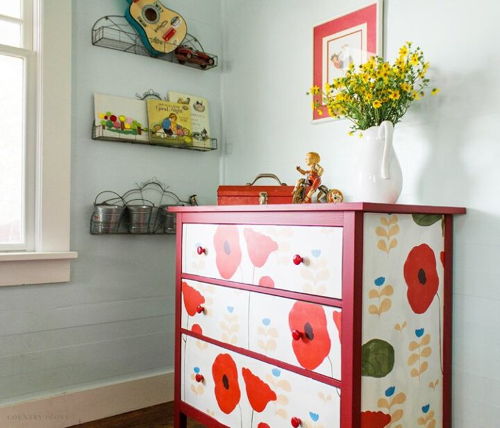 how to add wallpaper to a dresser