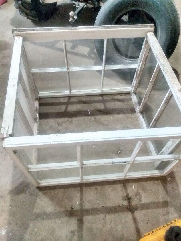 diy salvaged window greenhouse