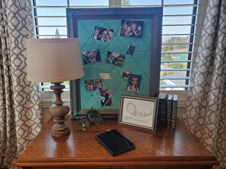 how to create a fabric covered bulletin board