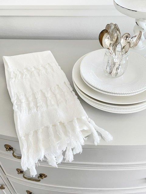 fringed tea towels