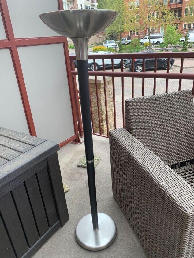 outdoor patio flower lamp