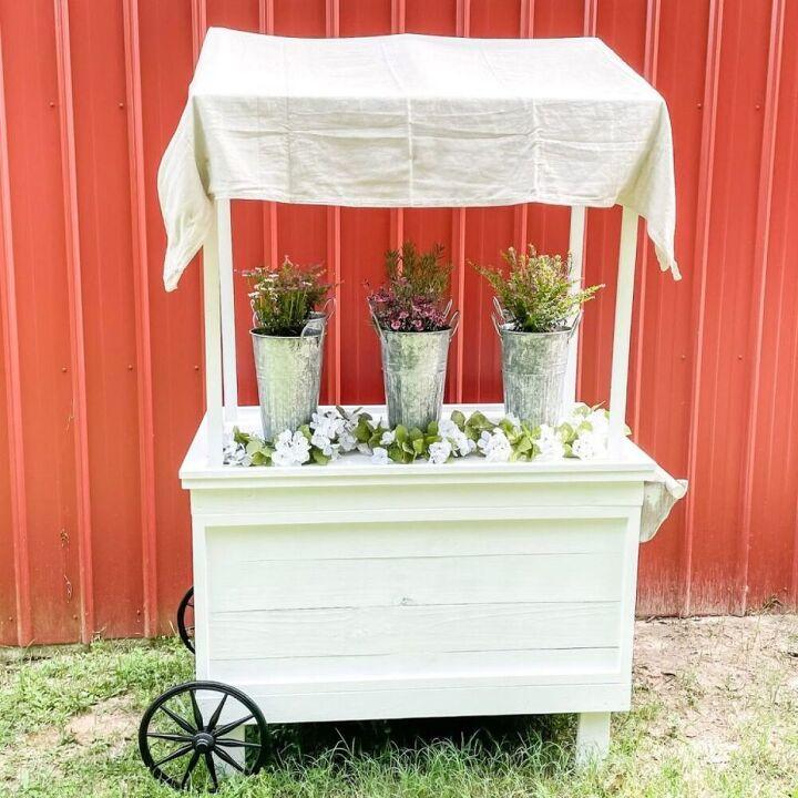 diy flower cart easy build tutorial cut list