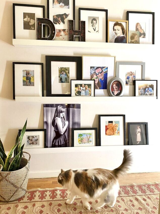how to make a simple picture shelf