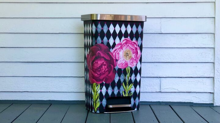 s 14 granny chic decor ideas that are hot right now, Tricked Out Trash Can