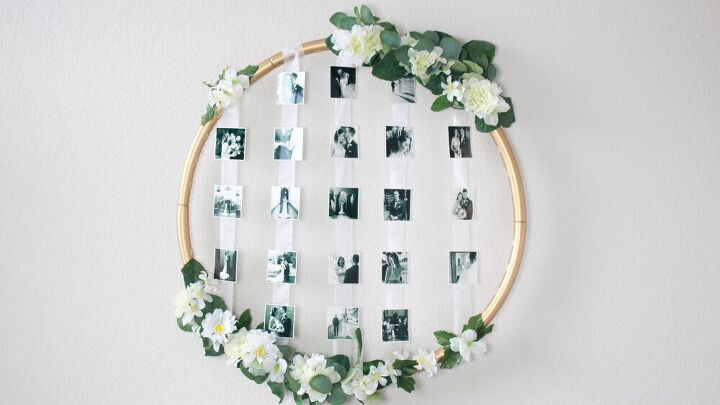 s 12 hula hoop decor ideas we never would ve thought of, Hula Hoop Picture Frame