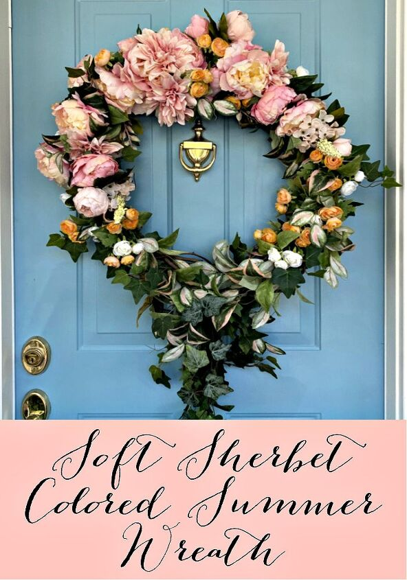 soft sherbet colored summer wreath