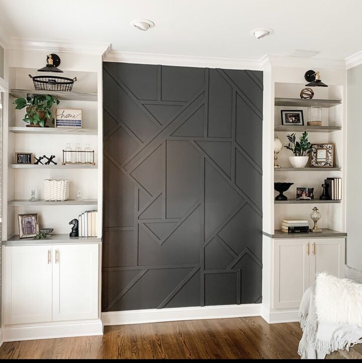 s 15 budget ways to get an instagram worthy home, Create a fun geometric accent wall