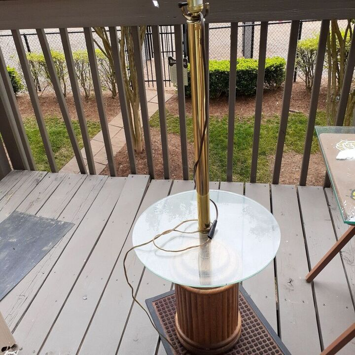 q how to rewire and restore floor lamp table