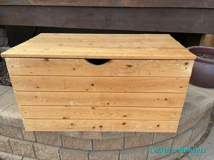 bold floral transfer toy box