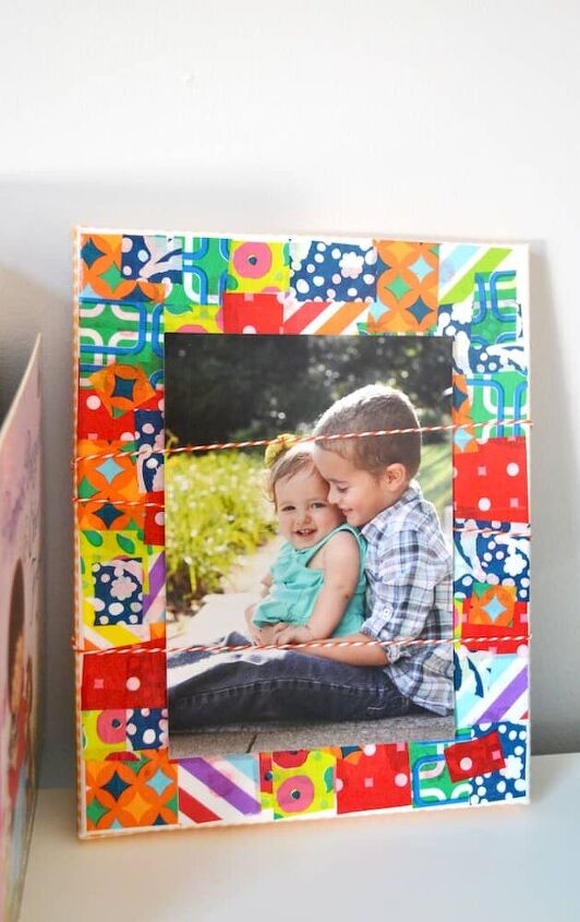 tissue paper canvas photo display a tutorial