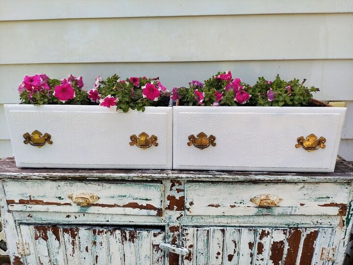 s 12 stunning new ways to show off your flowers this year, Repurpose old drawers as stunning planters