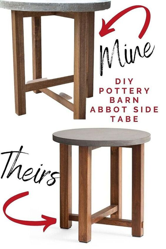 diy outdoor concrete table pottery barn look for less