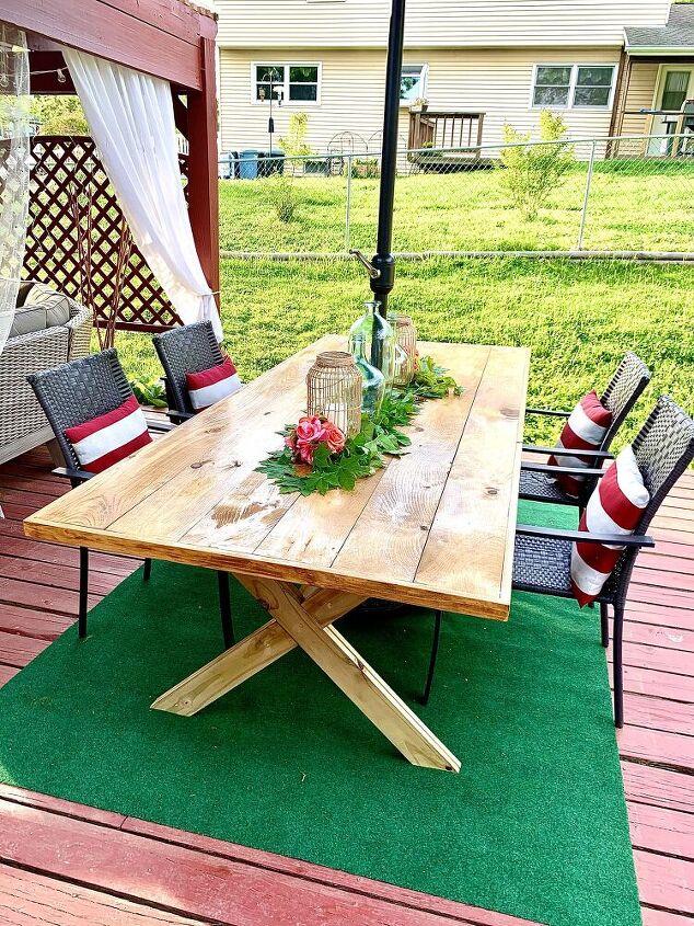 doable farmhouse outdoor table