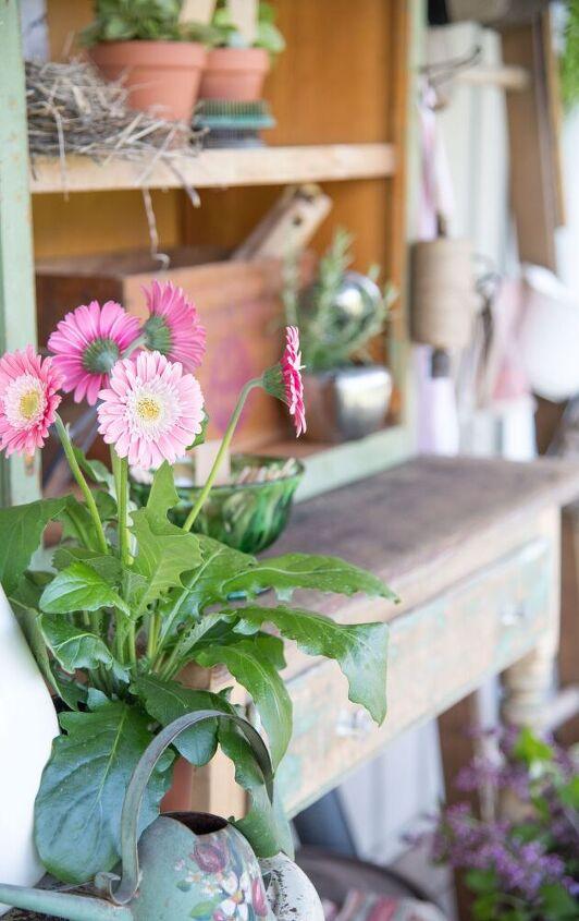 vintage potting bench diy outdoor extravaganza