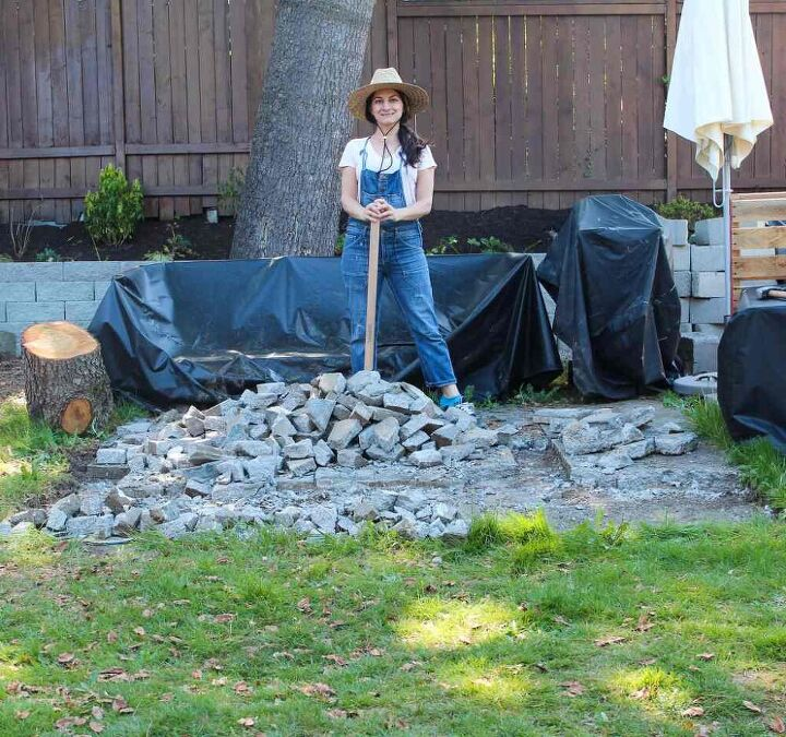 how to break up and salvage old concrete