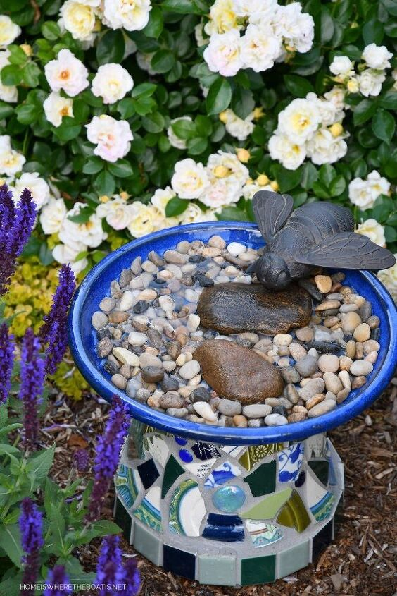 create a safe and easy bee watering station