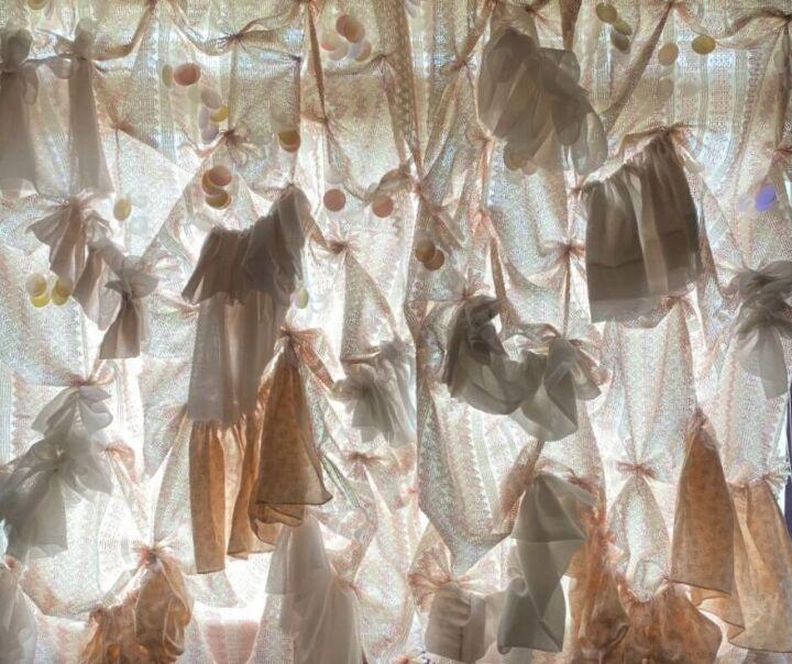 diy romantic ruffle curtains