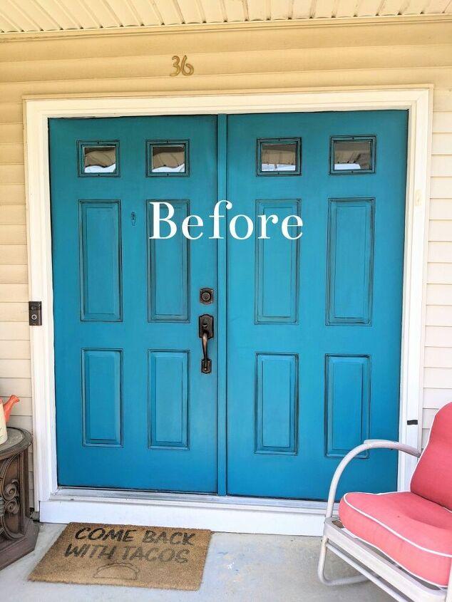 easy to make rustic wood disc wreath for your door