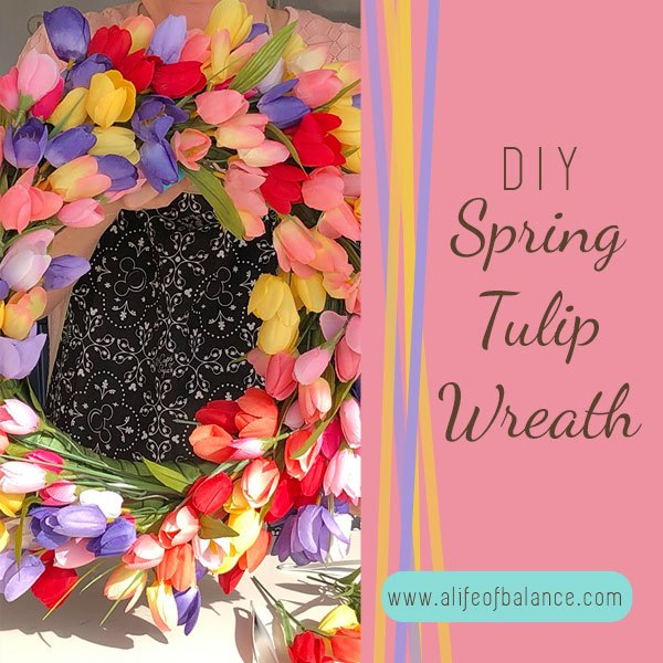 diy spring tulip wreath for a great first impression