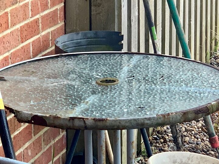 q can i still save a rusty bistro table