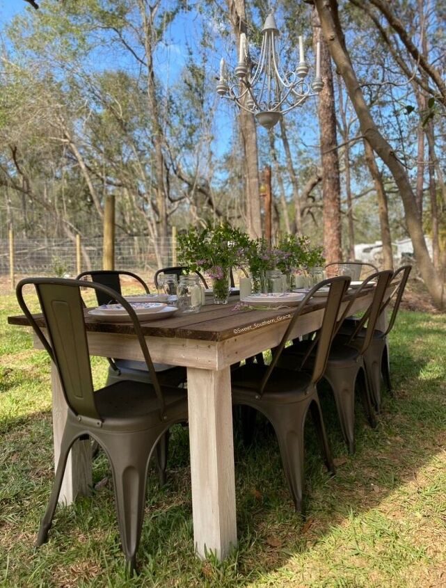 diy outdoor table for 70