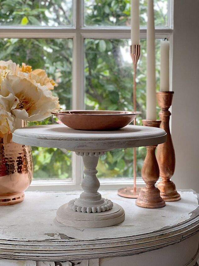 how to make a wood cake stand diy