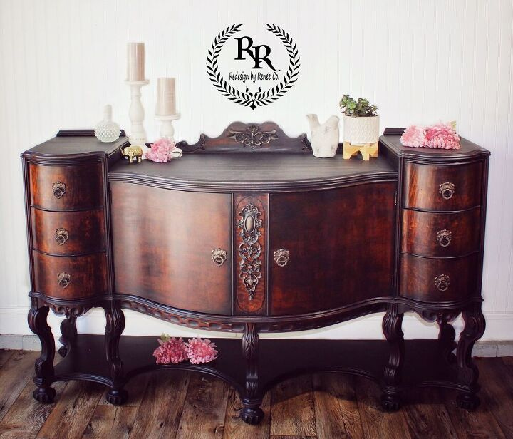 beautiful buffet redesign with woodubend paint couture and posh chalk