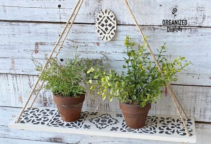 s 18 must try decor ideas that cost less than 20 to diy, A beautiful hanging plant shelf
