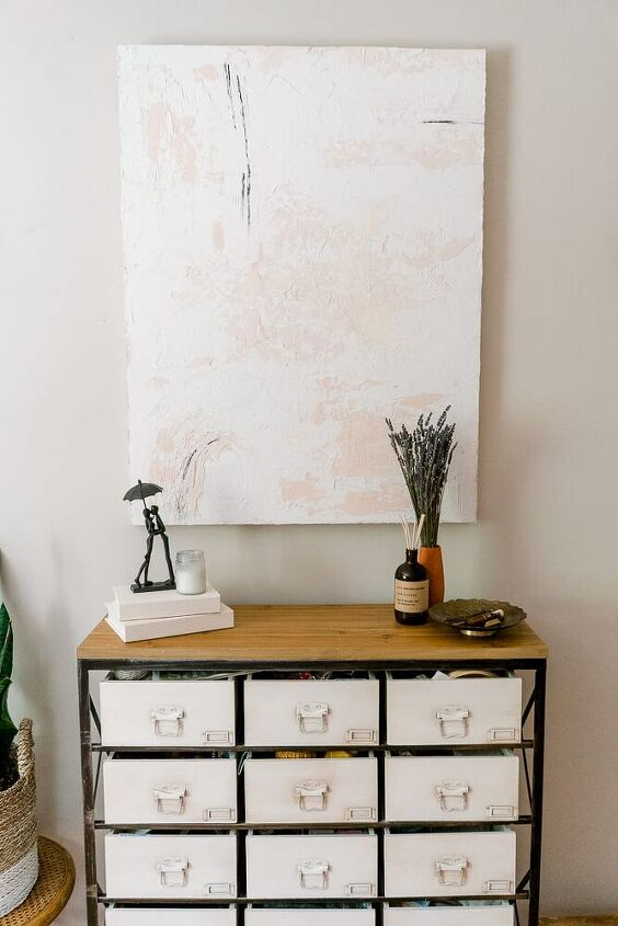 diy textured abstract wall art for less than 30